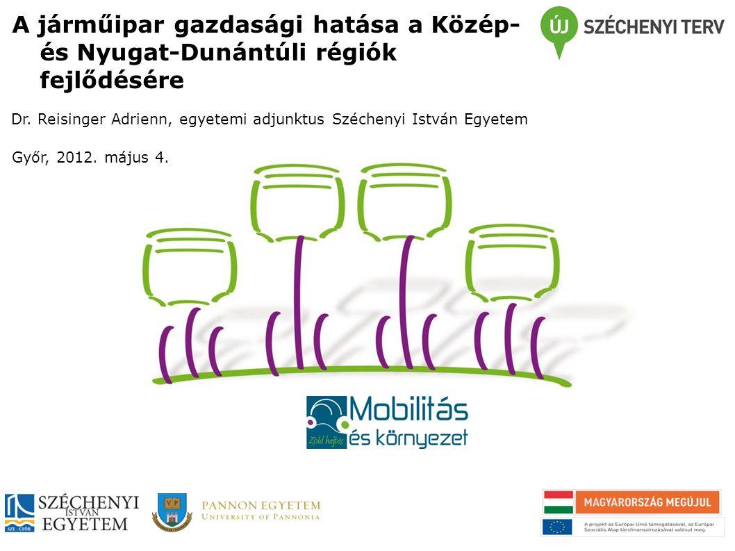 A járműipar gazdasági hatása a Közép- és Nyugat-Dunántúli régiók fejlődésére Dr.