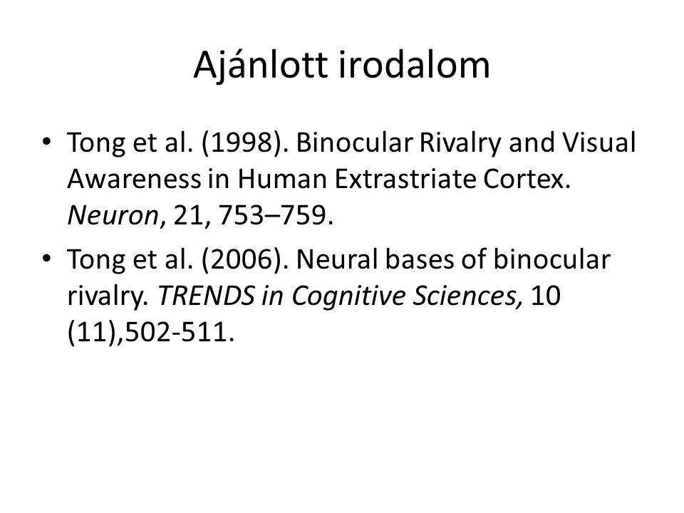 Ajánlott irodalom Tong et al.(1998).