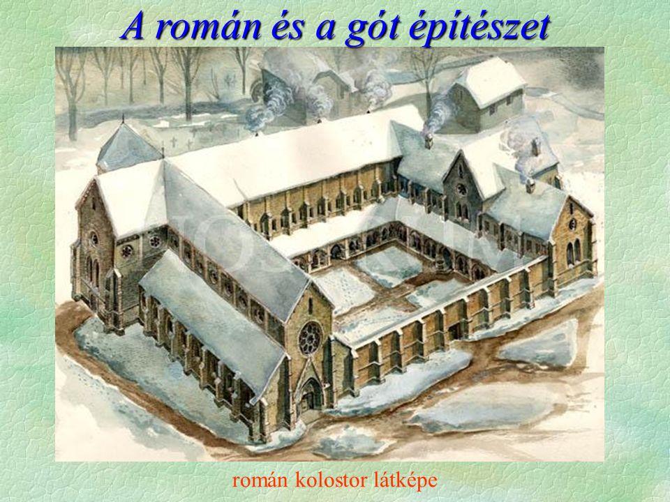 román kolostor látképe A román és a gót építészet