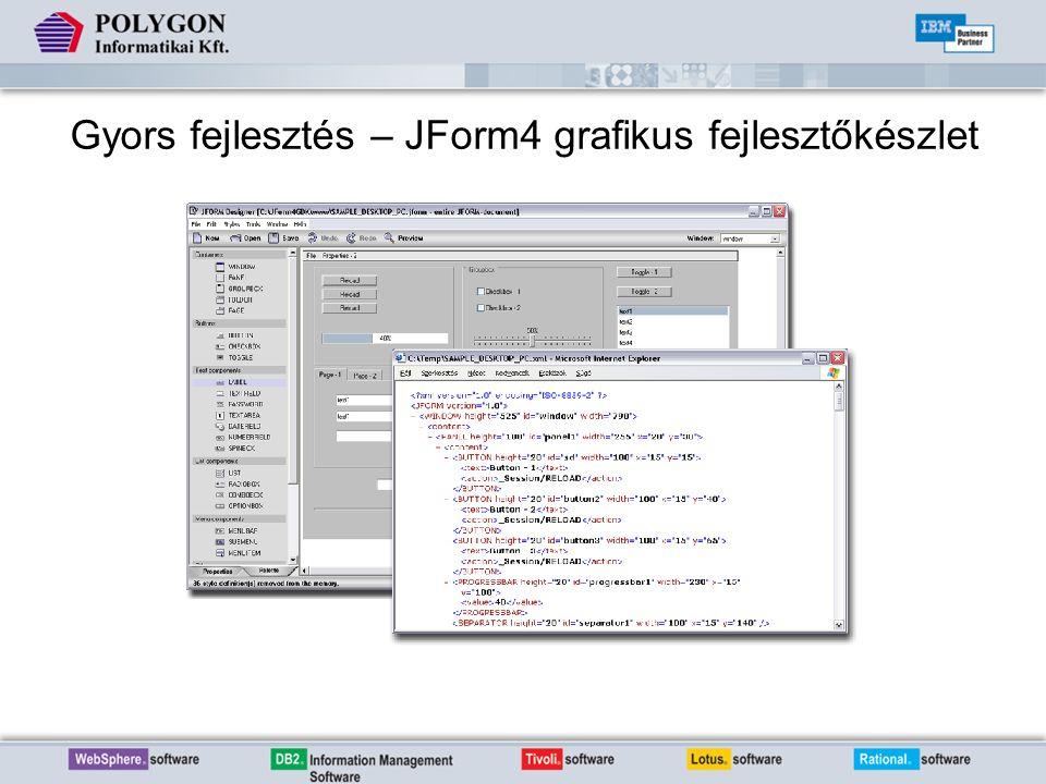 Gyors fejlesztés – JForm4 grafikus fejlesztőkészlet