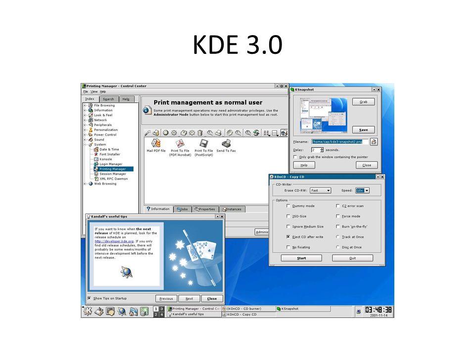 KDE 3.0