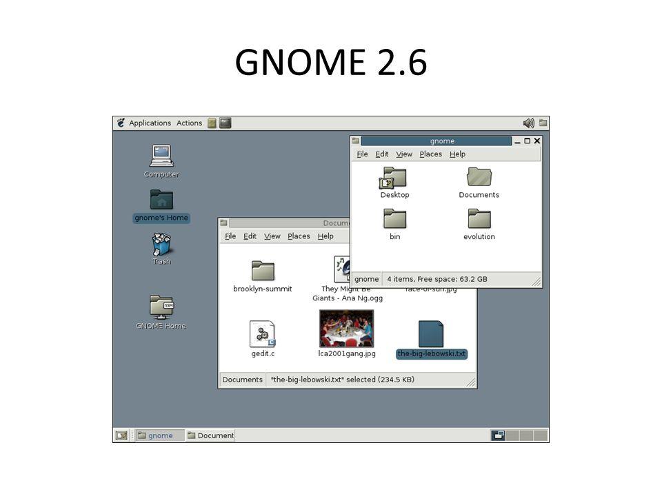 GUI-k áttekintése Xfce (XForms Common Environmen): – Fejlesztő: Olivier Fourdan – Legfrissebb stabil kiadás: 4.12 (2015.
