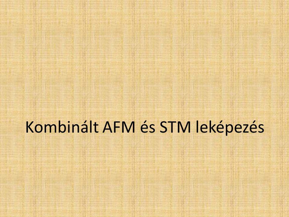 Kombinált AFM és STM leképezés