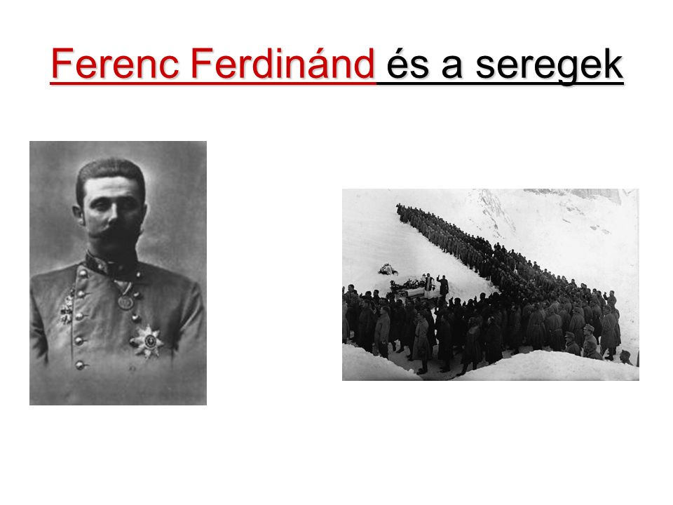 Ferenc Ferdinánd és a seregek