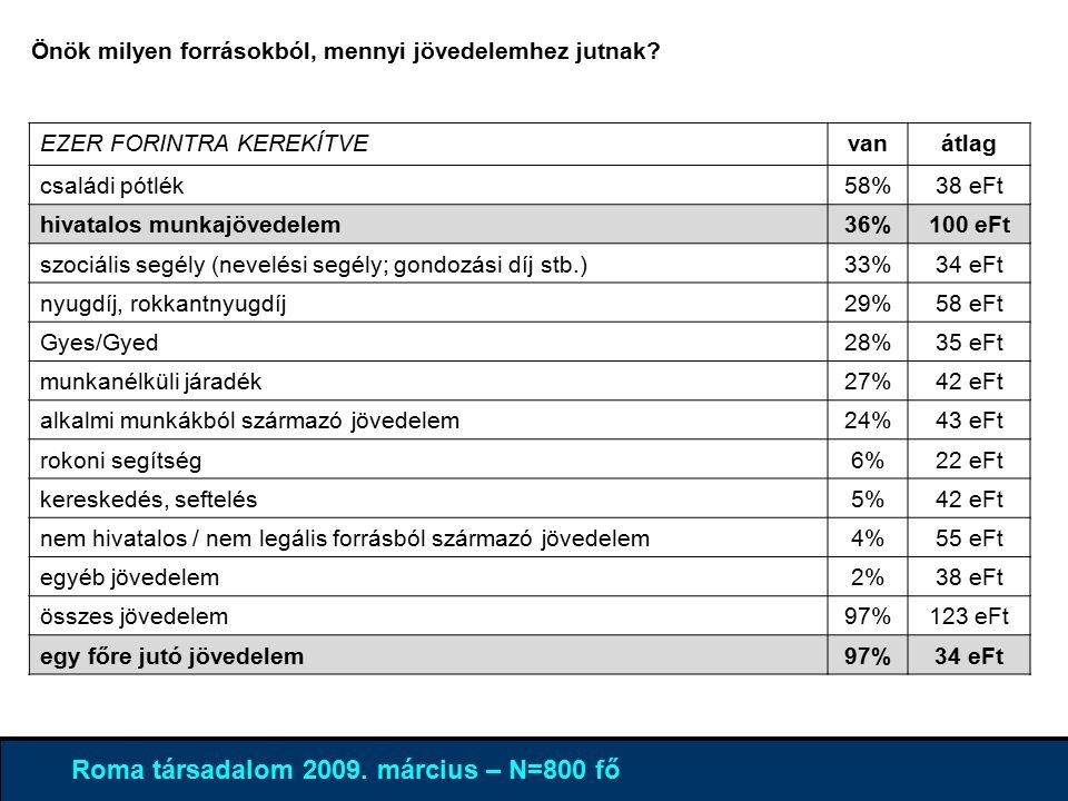 4% 96 % Roma társadalom 2009.