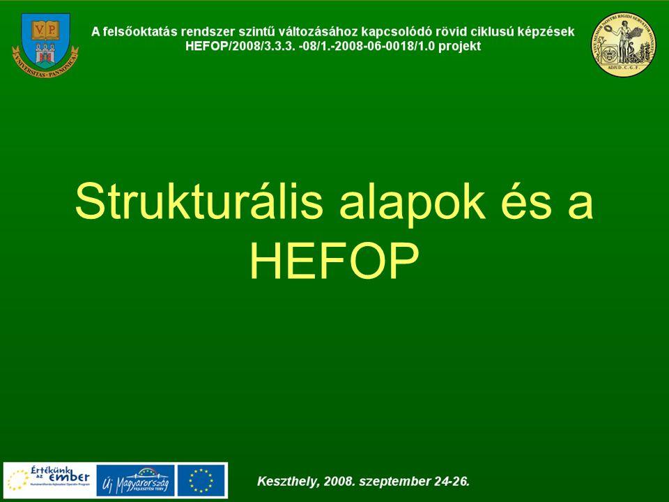Strukturális alapok és a HEFOP