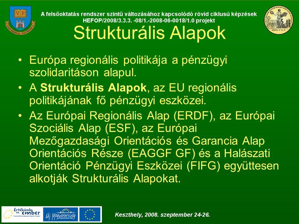 Strukturális Alapok Európa regionális politikája a pénzügyi szolidaritáson alapul.