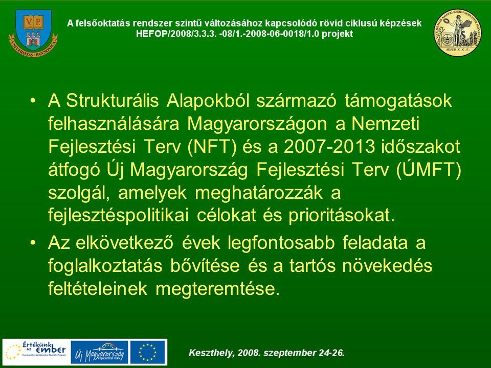 NFT A Nemzeti Fejlesztési Terv célja, hogy a 2004- 2006 közötti időszakra kijelölje Magyarország Strukturális Alapokból támogatható fejlesztéspolitikai célkitűzéseit és prioritásait.