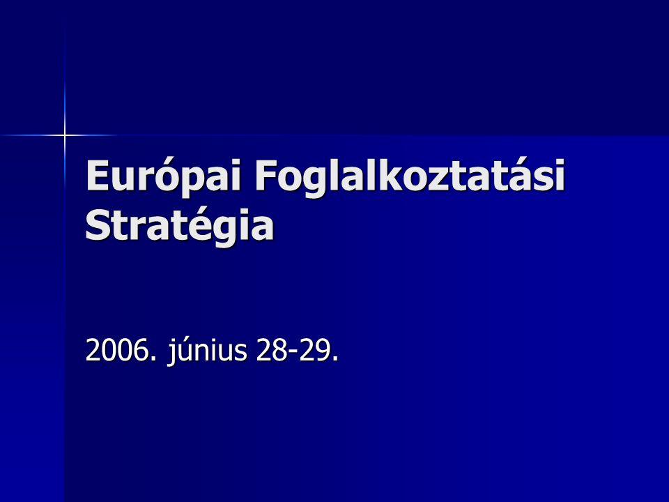 Európai Foglalkoztatási Stratégia 2006. június 28-29.
