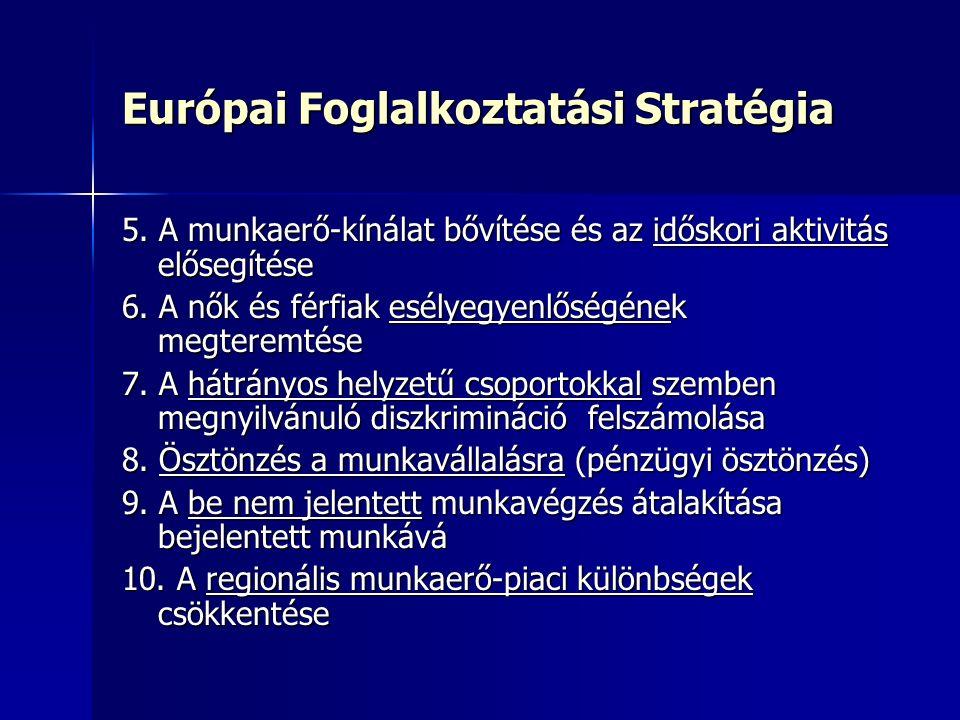 Európai Foglalkoztatási Stratégia 5.