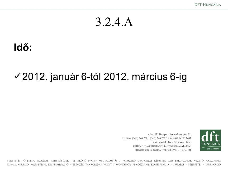 3.2.4.A Idő: 2012. január 6-tól 2012. március 6-ig