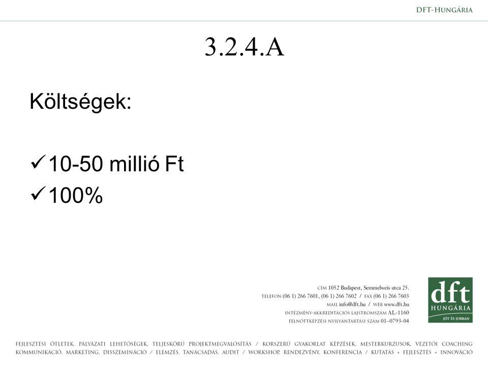 3.2.4.A Költségek: 10-50 millió Ft 100%