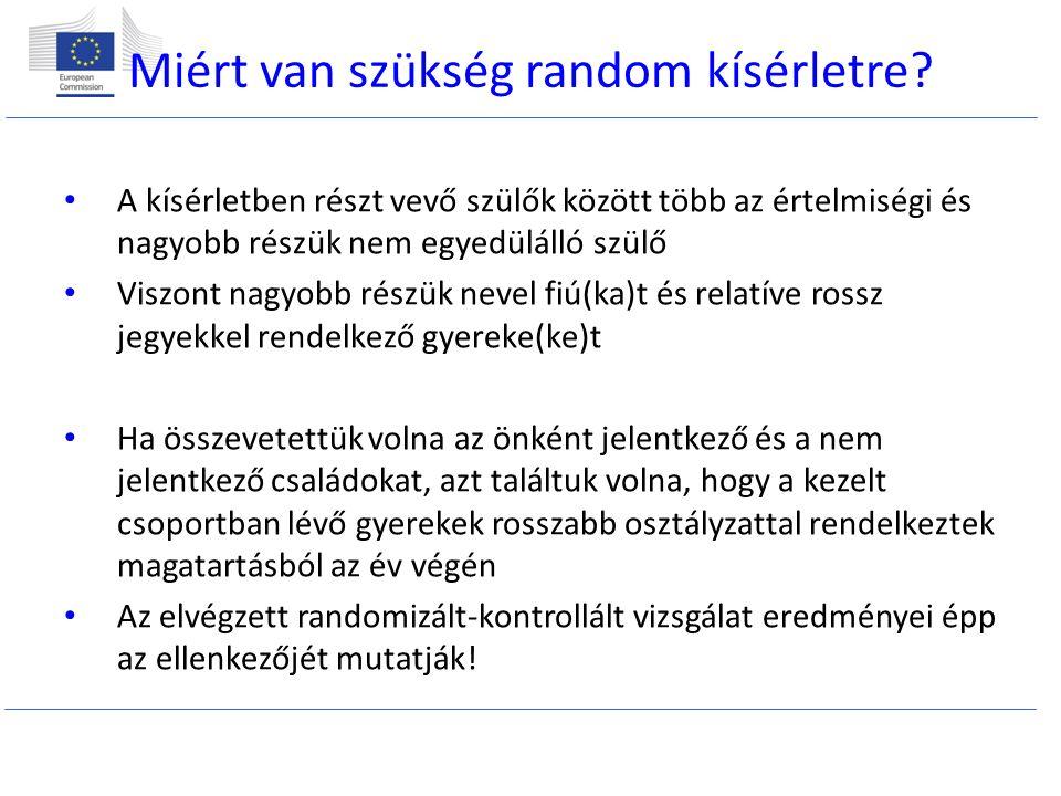 Miért van szükség random kísérletre.