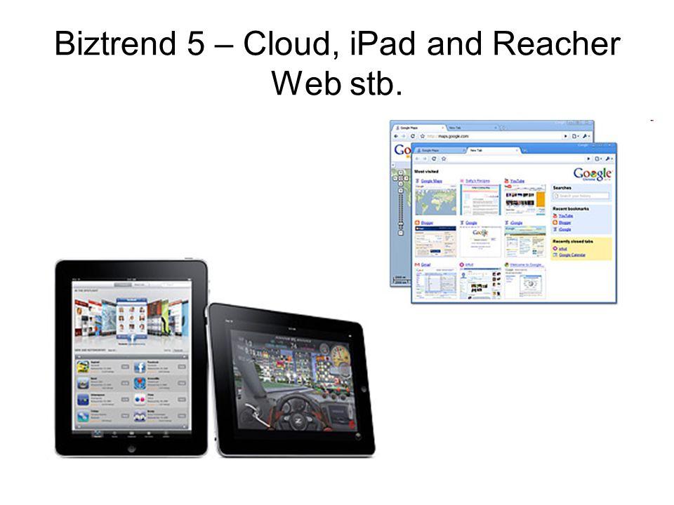 Biztrend 5 – Cloud, iPad and Reacher Web stb.