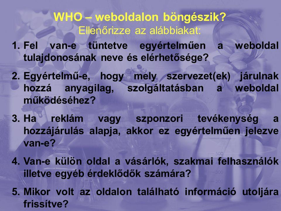 WHO – weboldalon böngészik.