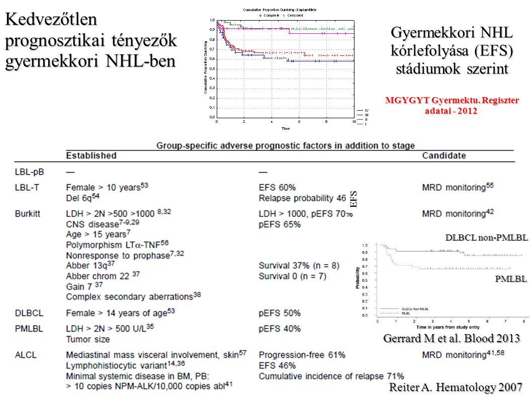 Diffúz növekedési mintázat nagy necroticus területekkel nagy necroticus területekkel >90%-os proliferációs aktivitás, Mib-1 jelölés Sm és atypusos perinuclearis, diffúz CD10-pozitivitás Bcl-2 kifejeződés a kóros sejtekben KÖSZÖNETNYILVÁNÍTÁS Méhes Gábor Bedekovics Judit DE Pathológiai Intézet Jakab Zsuzsa MGYGYT Gyermektumor Regiszter Gyurina Katalin DE Gyermekhematológiai-Onkológiai Tanszék KÖSZÖNÖM A FIGYELMET!