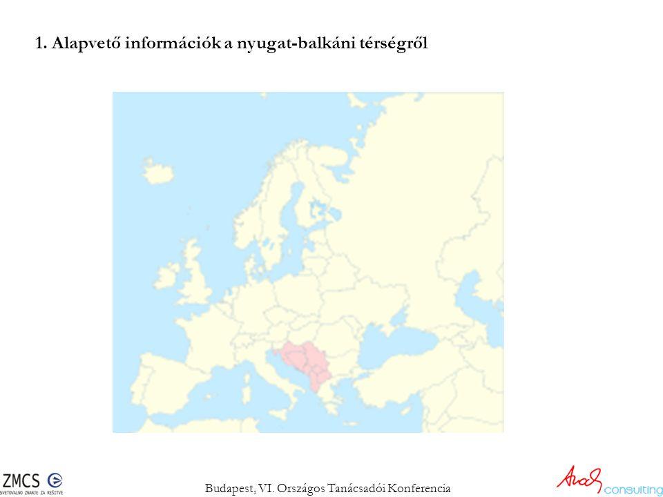1. Alapvető információk a nyugat-balkáni térségről Budapest, VI. Országos Tanácsadói Konferencia