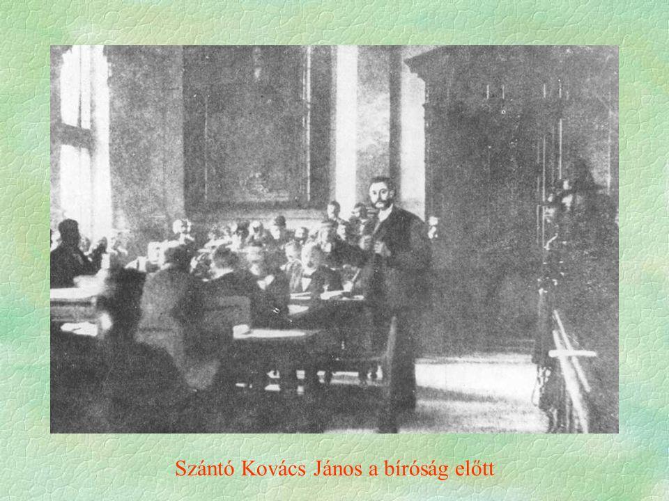Szántó Kovács János a bíróság előtt