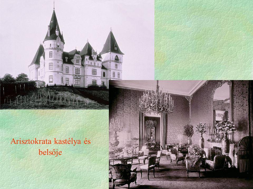 Arisztokrata kastélya és belsője