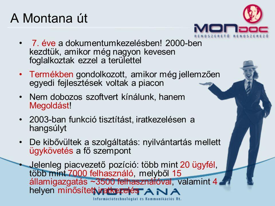 A Montana út 7. éve a dokumentumkezelésben.