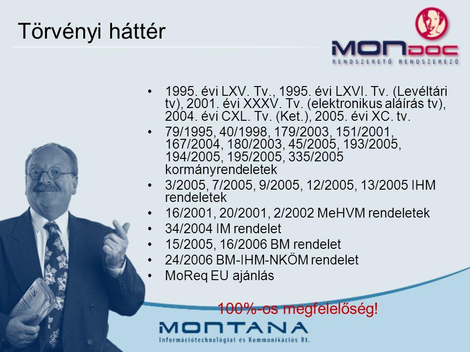 Törvényi háttér 1995. évi LXV. Tv., 1995. évi LXVI.