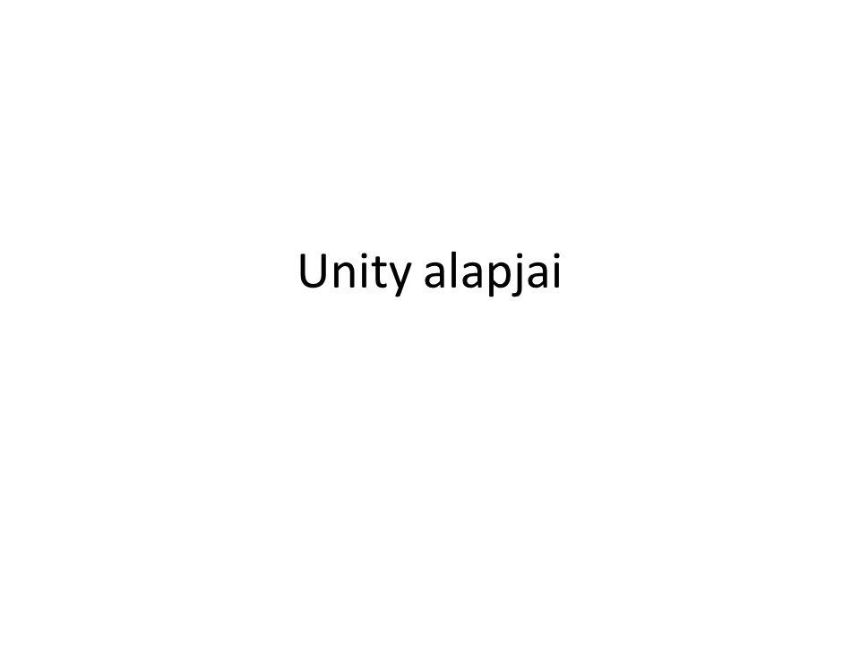 Unity alapjai