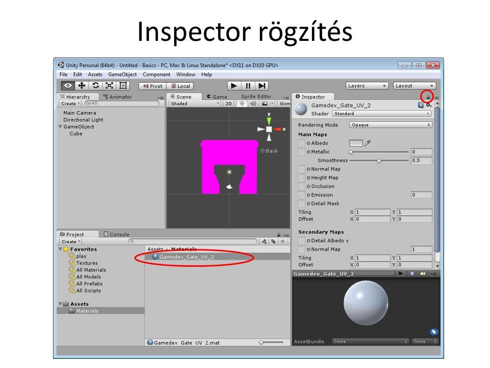 Inspector rögzítés