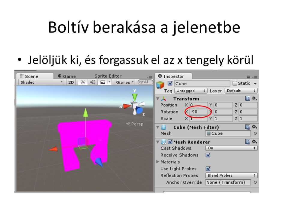Alap Script using UnityEngine; using System.Collections; public class LevelGenerator : MonoBehaviour { // Use this for initialization void Start () { } // Update is called once per frame void Update () { } Indításkor hívódik Minden képkocka számításakor hívódik