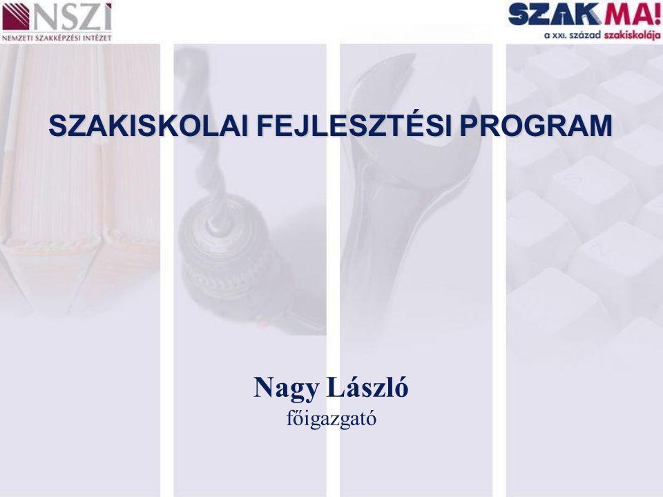 SZAKISKOLAI FEJLESZTÉSI PROGRAM Nagy László főigazgató