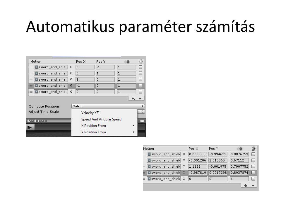 Automatikus paraméter számítás