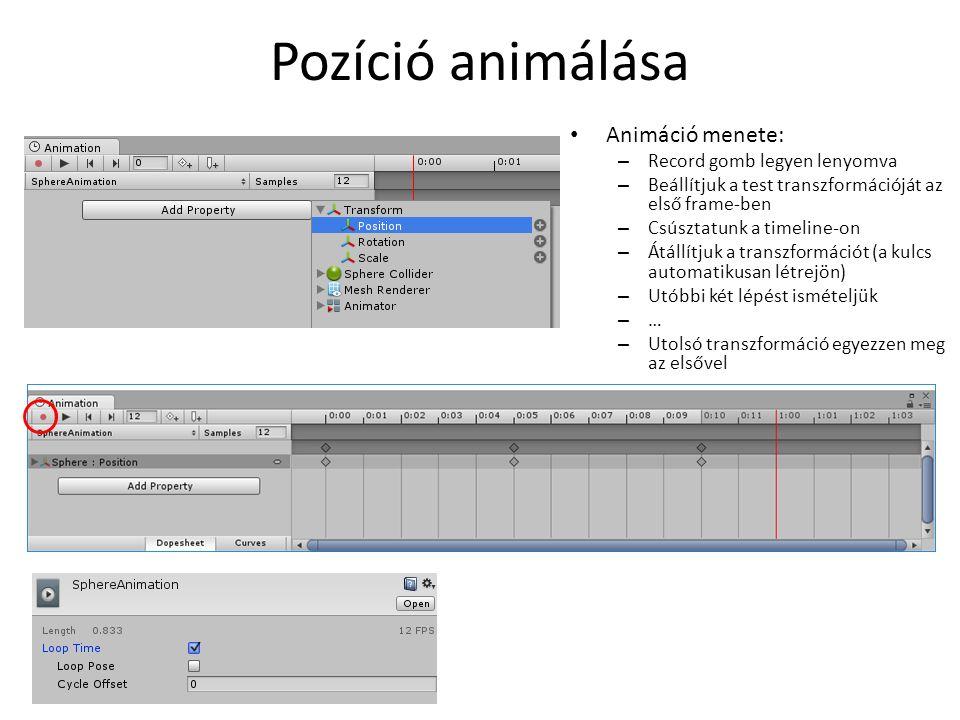 Új animáció beállítása I. Humanoid Avatar a Paladin modelből