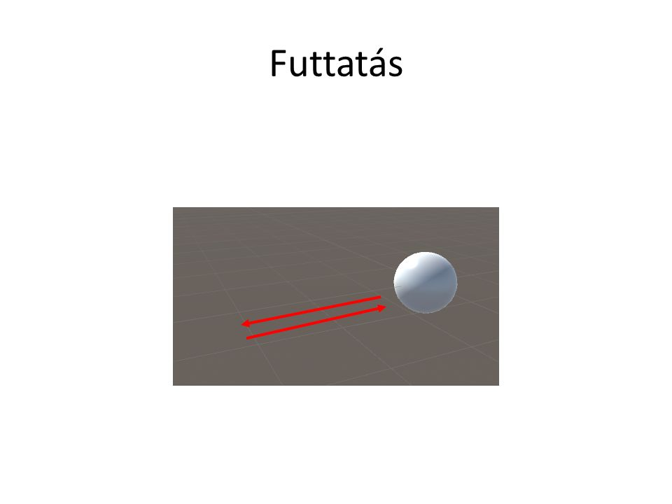 Ugrás Az ütéshez hasonlóan megcsinálható, de 2 ugrás animáció van: – Előre – Csak felfele Ezeket irányíthatnánk a forward axis szerint Ez tehát egy 1D blend tree Próbáljuk meg összerakni …