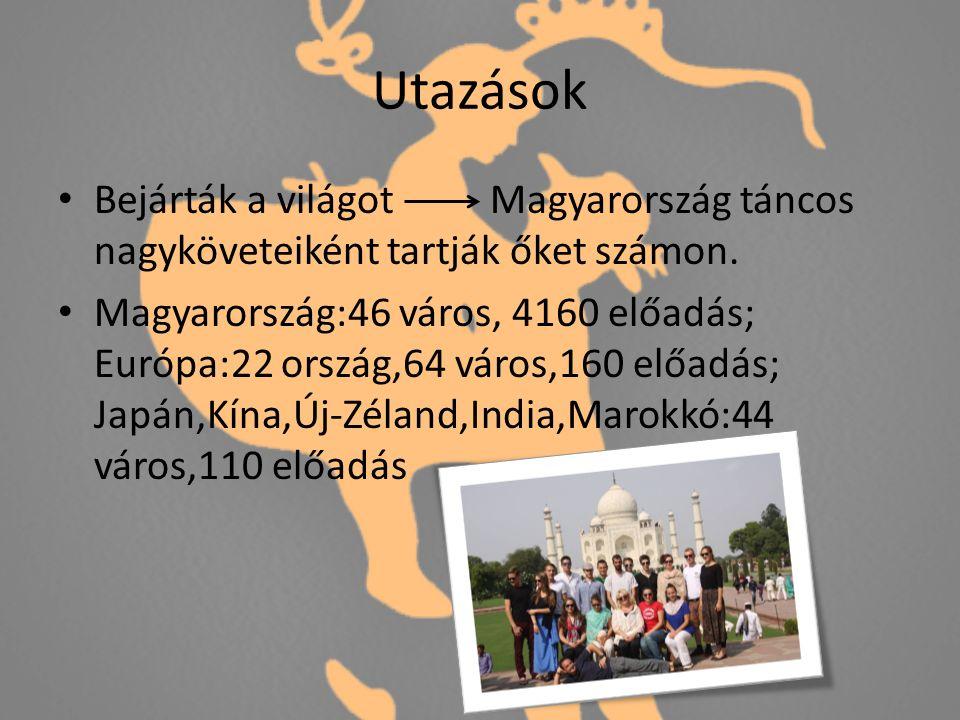 Utazások Bejárták a világot Magyarország táncos nagyköveteiként tartják őket számon.