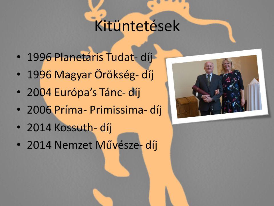 Kitüntetések 1996 Planetáris Tudat- díj 1996 Magyar Örökség- díj 2004 Európa's Tánc- díj 2006 Príma- Primissima- díj 2014 Kossuth- díj 2014 Nemzet Művésze- díj