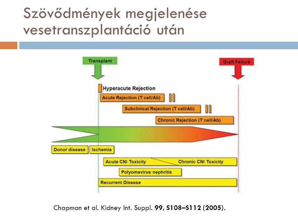 Szövődmények megjelenése vesetranszplantáció után Chapman et al.