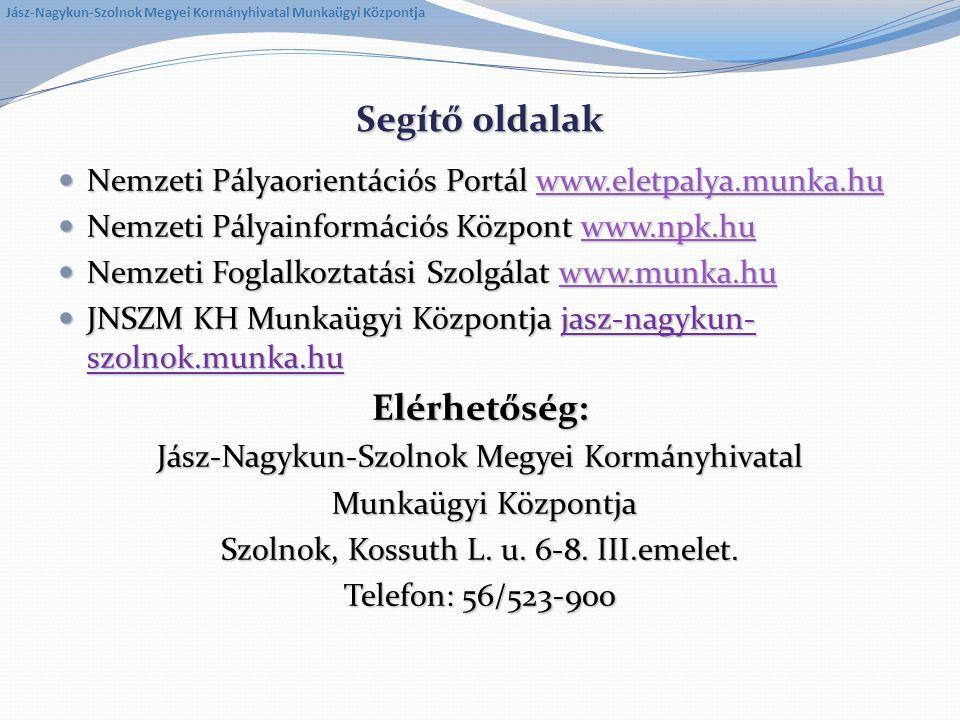 Segítő oldalak Nemzeti Pályaorientációs Portál www.eletpalya.munka.hu Nemzeti Pályaorientációs Portál www.eletpalya.munka.huwww.eletpalya.munka.hu Nem
