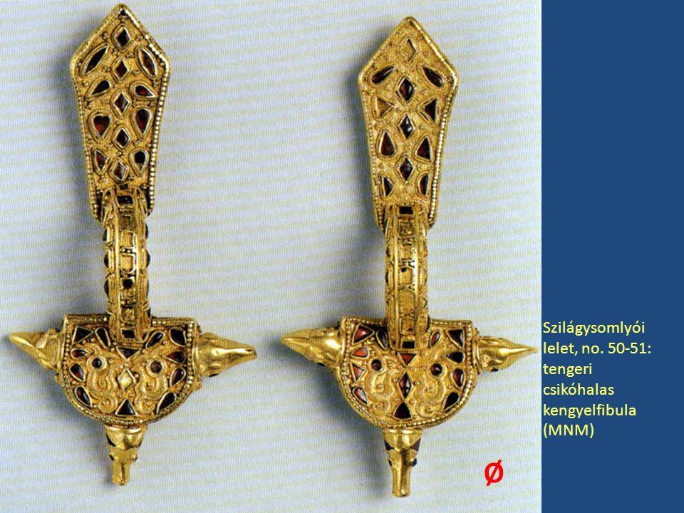 Szilágysomlyói lelet, no. 50-51: tengeri csikóhalas kengyelfibula (MNM) Ø