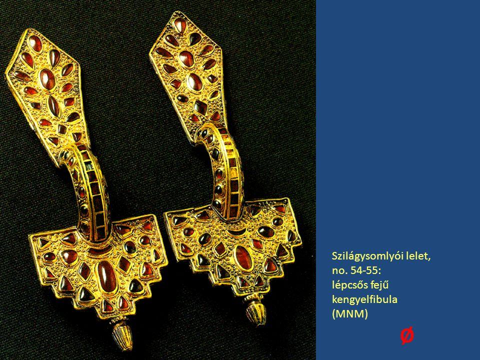 Szilágysomlyói lelet, no. 54-55: lépcsős fejű kengyelfibula (MNM) Ø