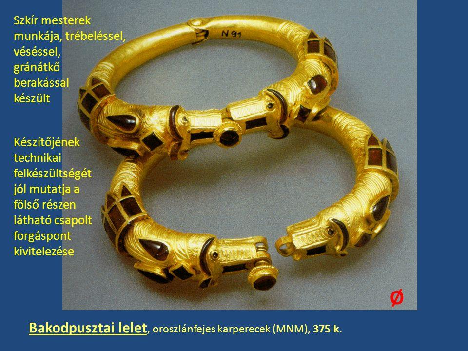 Bakodpusztai lelet, oroszlánfejes karperecek (MNM), 375 k.