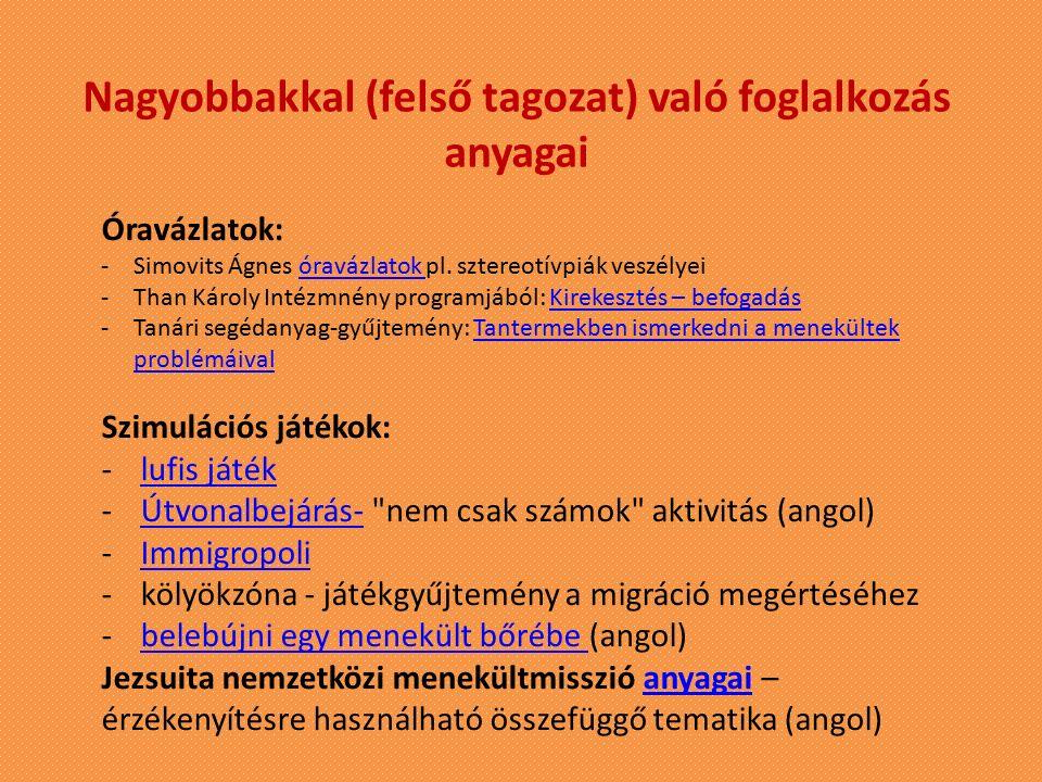 Oktatási segédanyagok elérhetőségei: www.kpszti.hu - Tantárgygondozás - Gyermek- és ifjúságvédelem Oktatási segédanyagok http://faludiakademia.hu/ - Segédletek