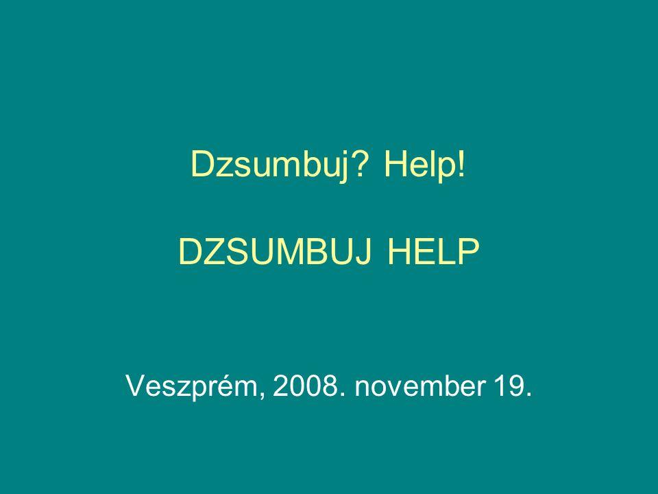 Dzsumbuj? Help! DZSUMBUJ HELP Veszprém, 2008. november 19.