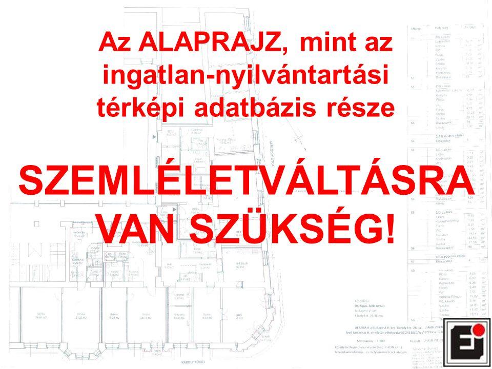 Az ALAPRAJZ, mint az ingatlan-nyilvántartási térképi adatbázis része SZEMLÉLETVÁLTÁSRA VAN SZÜKSÉG!