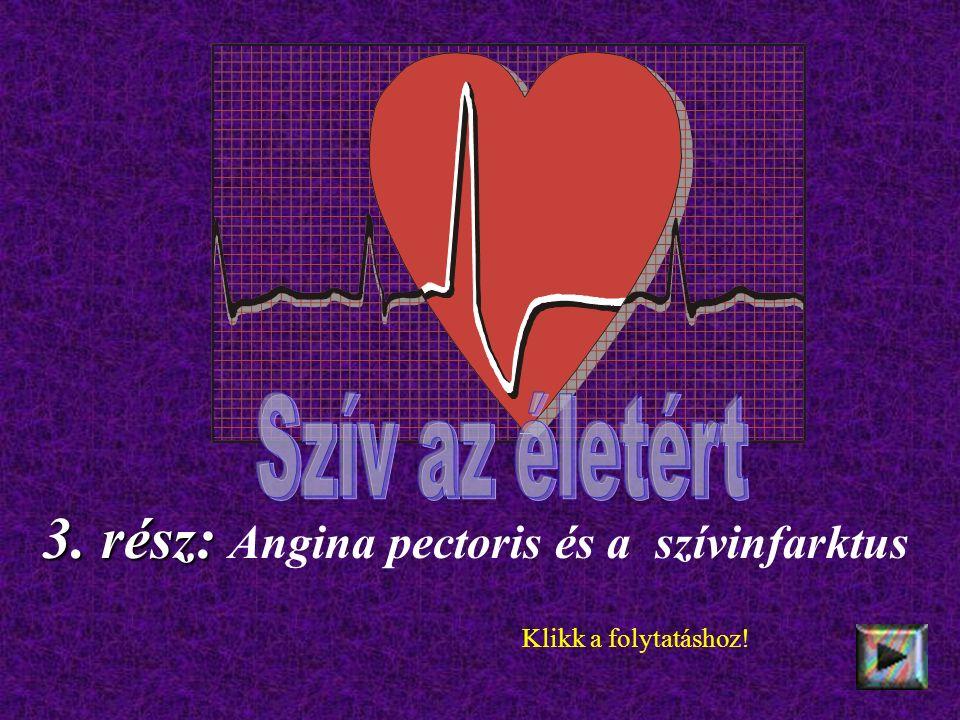 3. rész: 3. rész: Angina pectoris és a szívinfarktus Klikk a folytatáshoz!