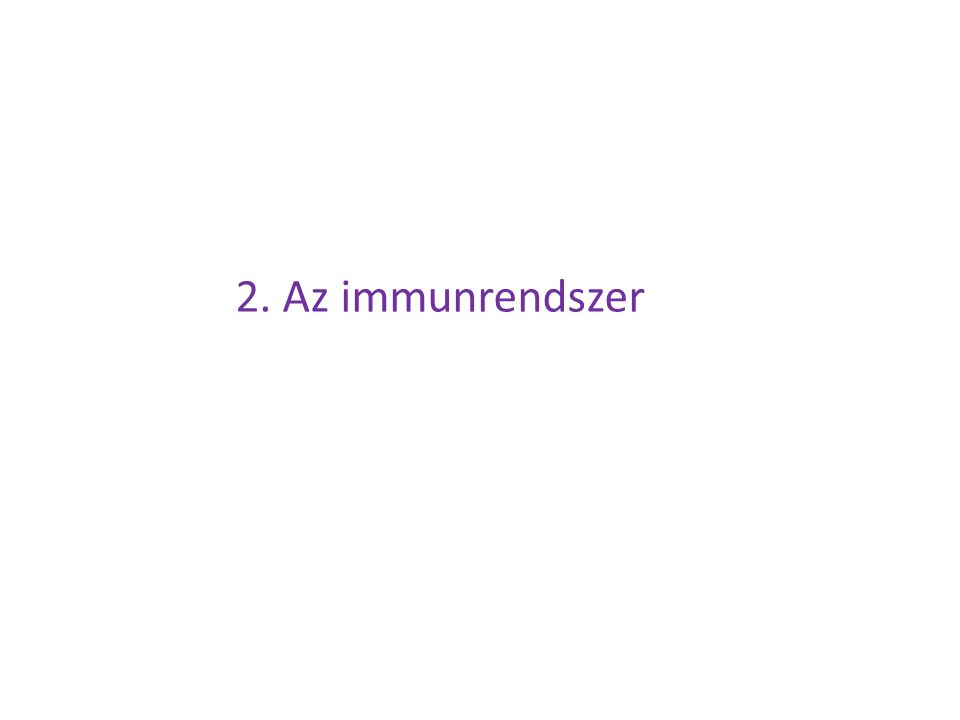 2. Az immunrendszer