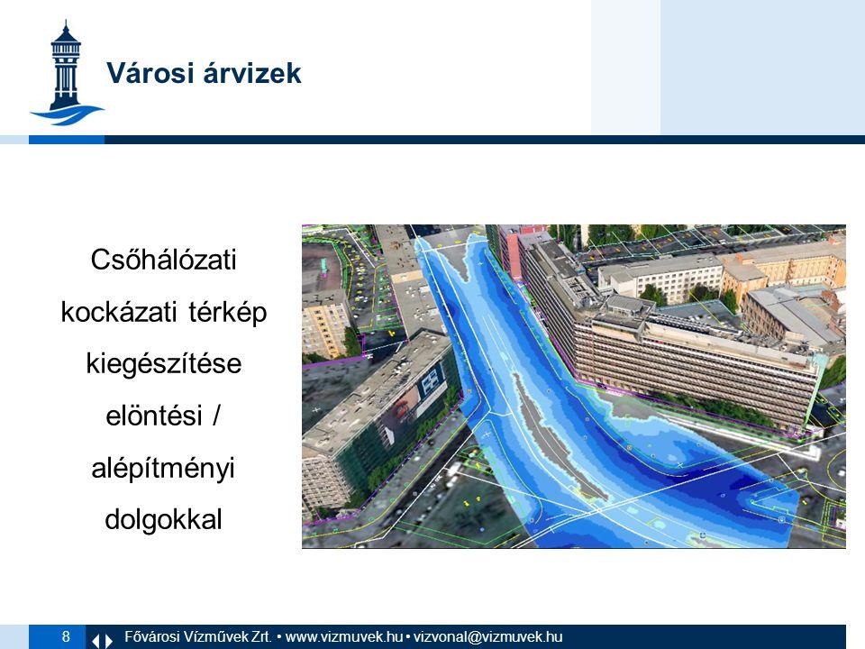 8 Városi árvizek Csőhálózati kockázati térkép kiegészítése elöntési / alépítményi dolgokkal Fővárosi Vízművek Zrt.