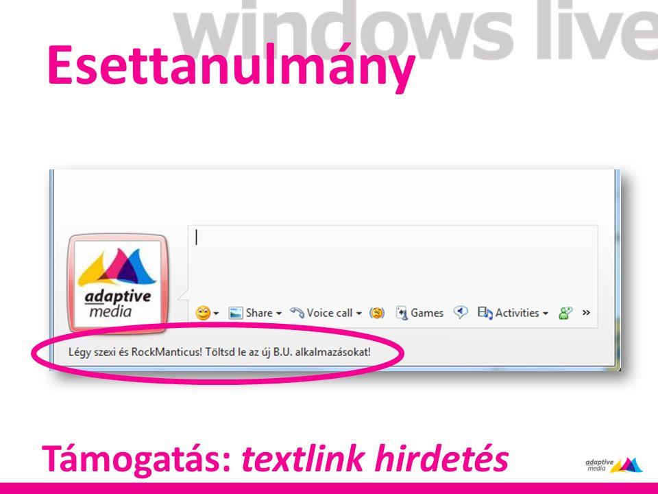 Esettanulmány Támogatás: textlink hirdetés