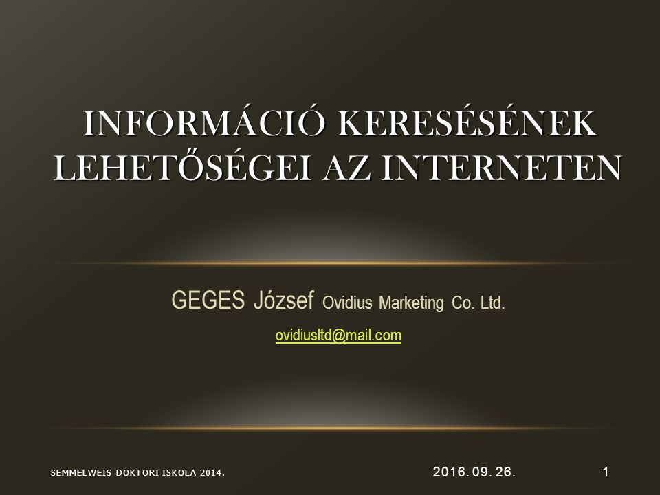 2016.09. 26.1 GEGES József Ovidius Marketing Co. Ltd.