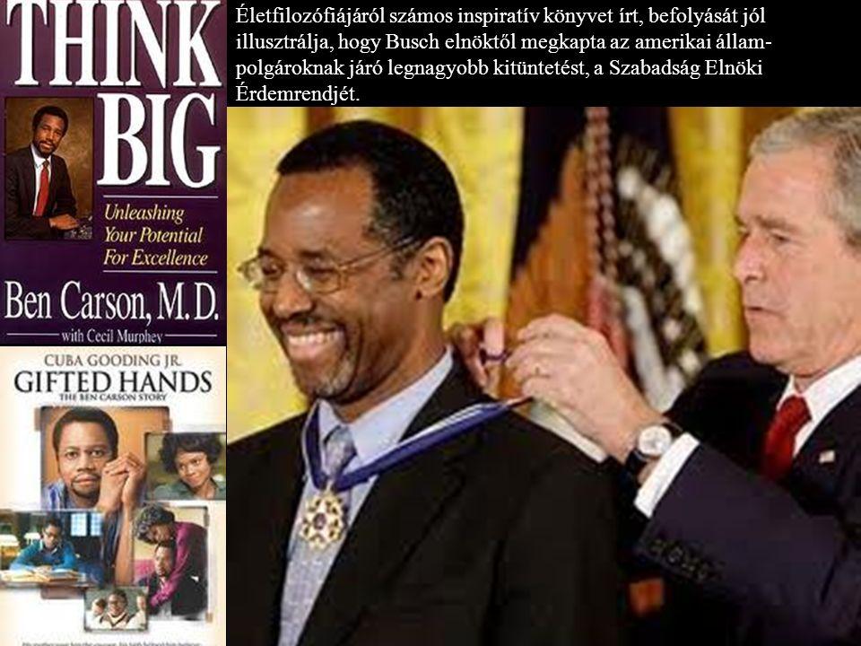 Dr.Carson bevallása szerint mindig is orvos akart lenni.