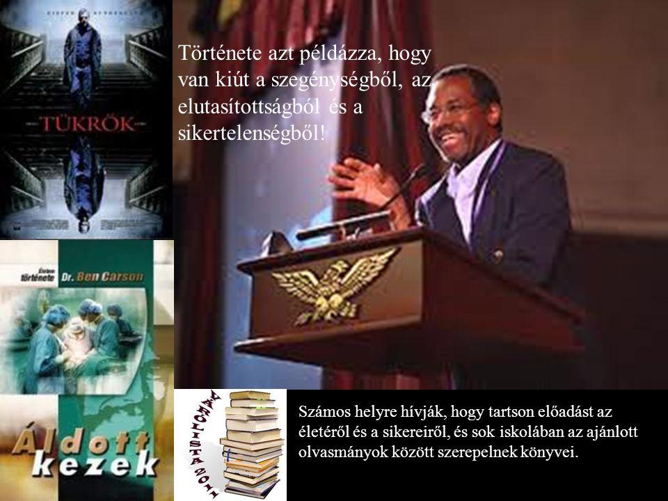 Számos helyre hívják, hogy tartson előadást az életéről és a sikereiről, és sok iskolában az ajánlott olvasmányok között szerepelnek könyvei.