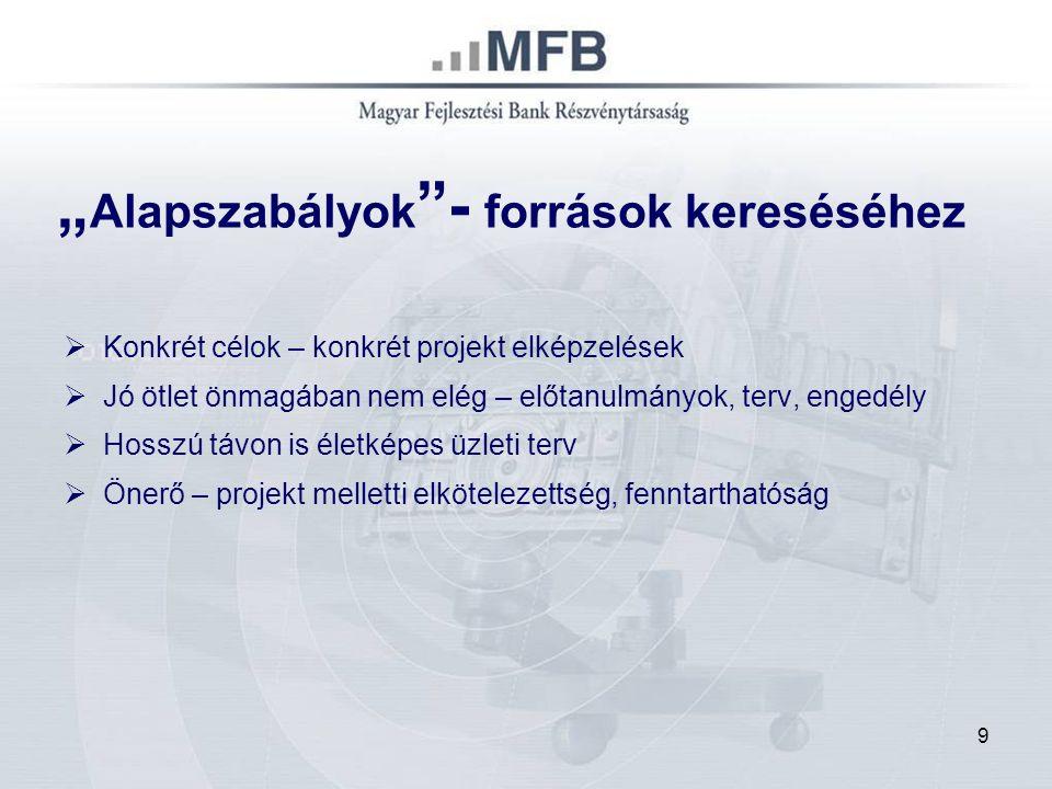 10 Általános jellemzők:  Hitel felhasználása: új beszerzés, bővítés, korszerűsítés  Árfolyam-garancia – forint hitel deviza alapon  Kedvezményes kamat: 3 havi EURIBOR + max.
